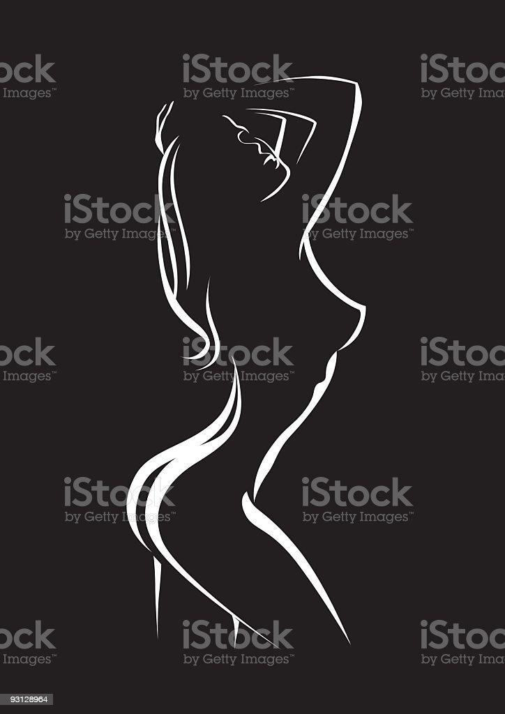 silhouette of beauty woman royalty-free stock vector art