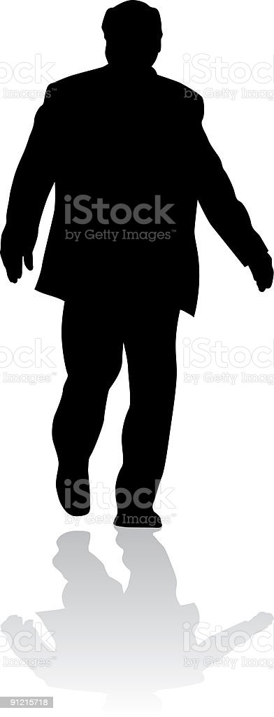 Silhouette of businessman royalty-free stock vector art