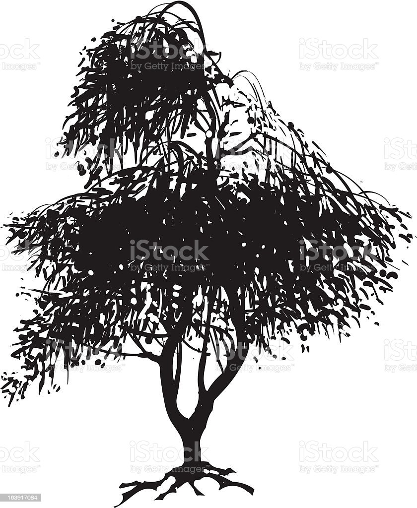 Silhouette of Japanese Maple royalty-free stock vector art