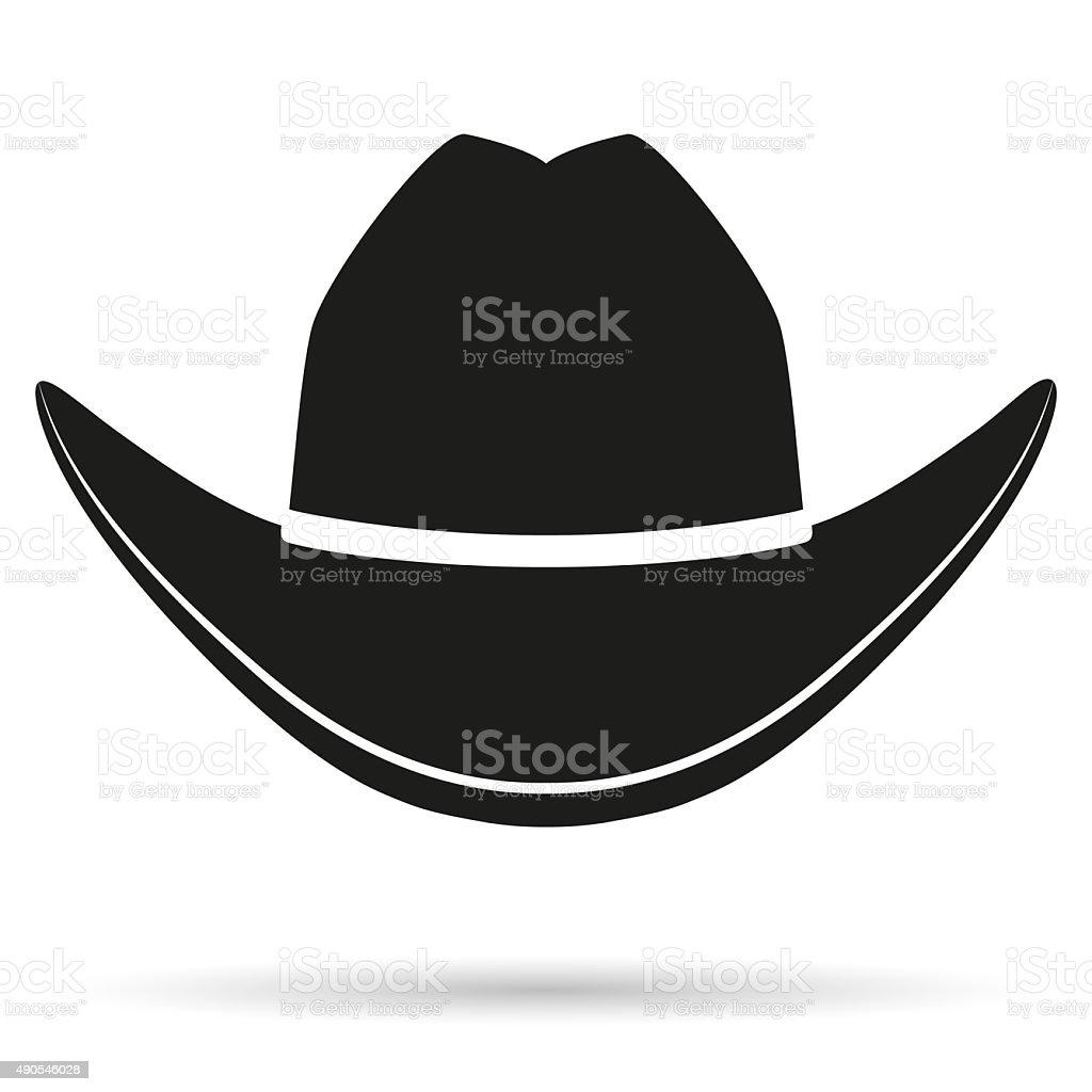 Silhouette symbol of  cowboy hat vector art illustration