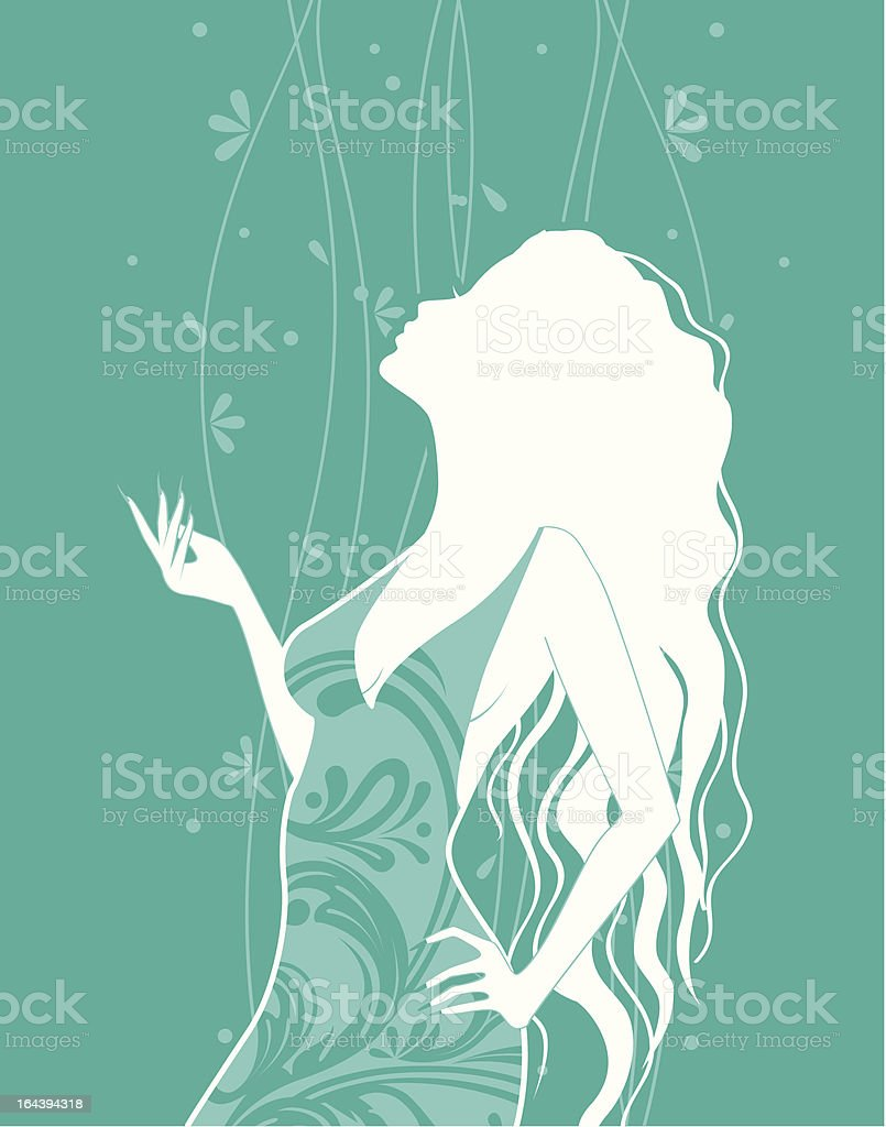 Silhouette women royalty-free stock vector art