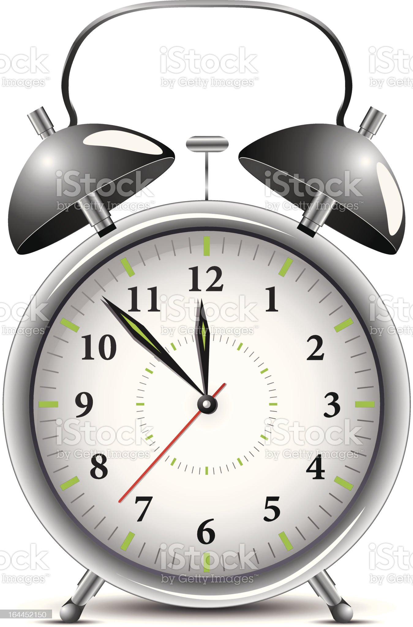 Silver alarm clock royalty-free stock vector art