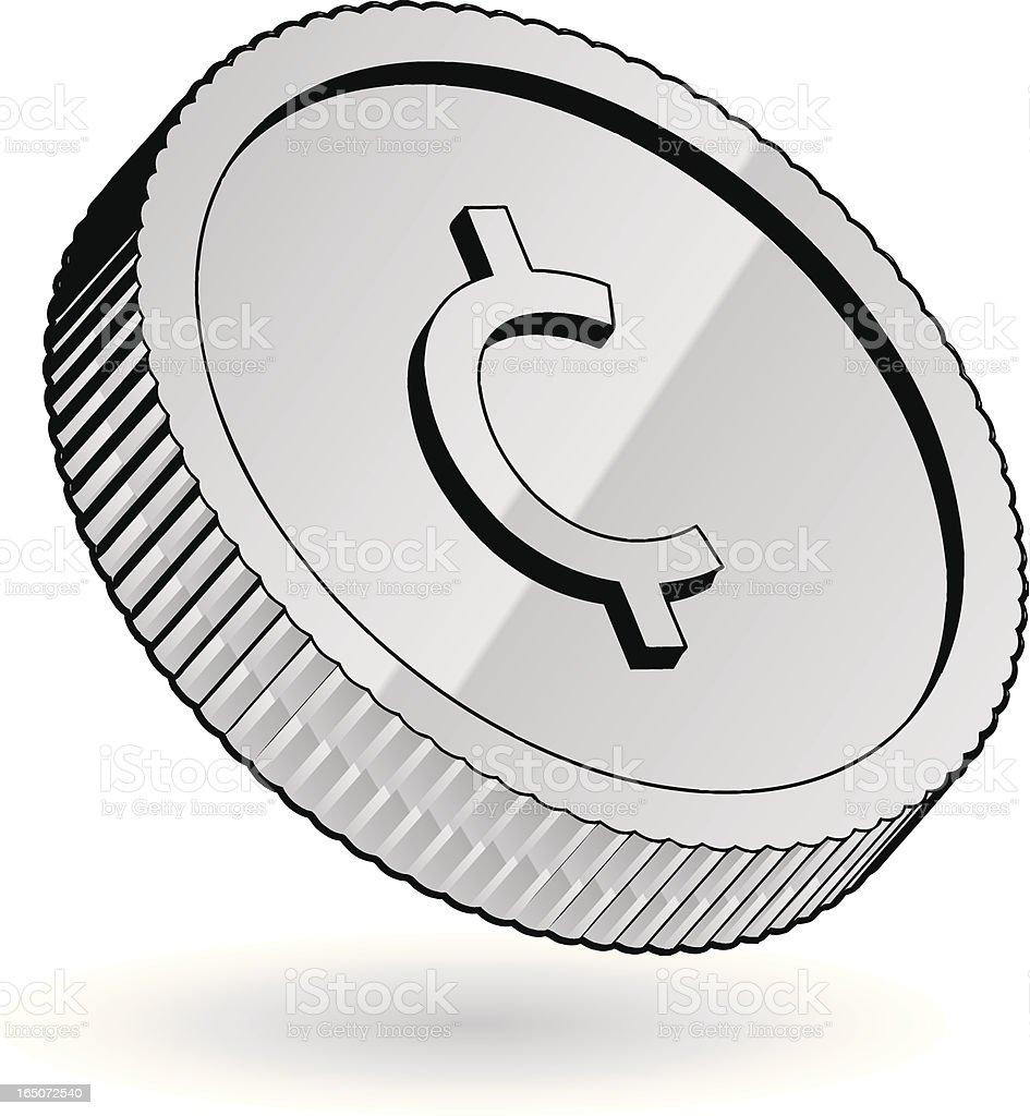 silver coin vector art illustration