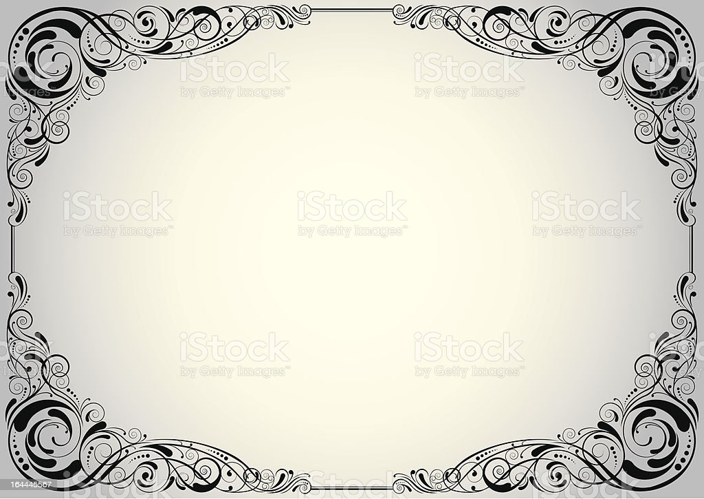 Silver corner background royalty-free stock vector art