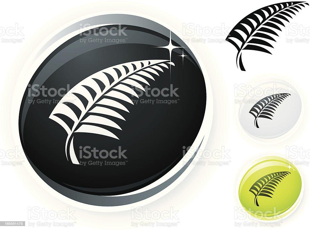 Silver fern royalty-free stock vector art