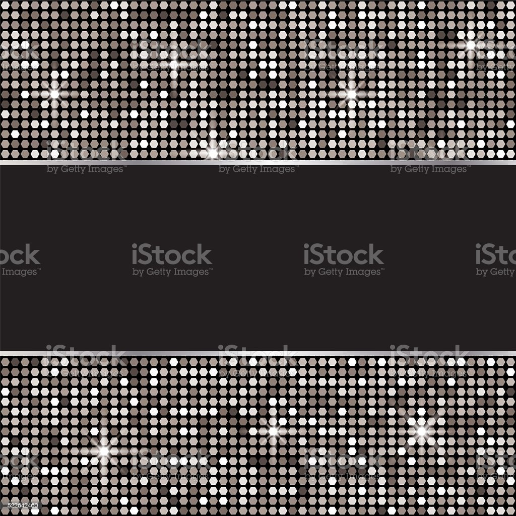 Silver glitter vector background stock photo