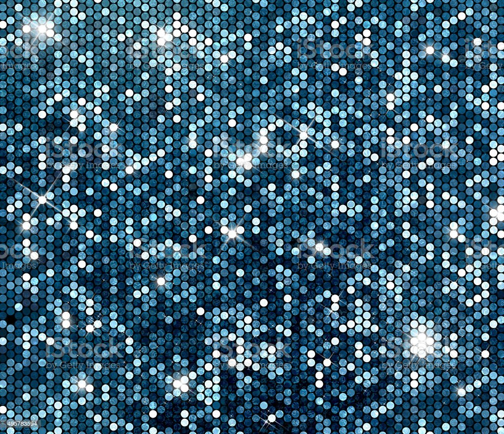 Silver sparkle glitter sequins background stock photo