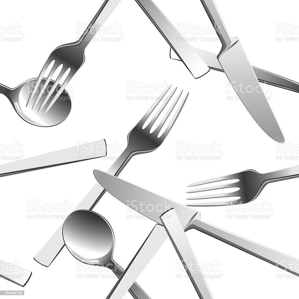Silverware background. royalty-free stock vector art