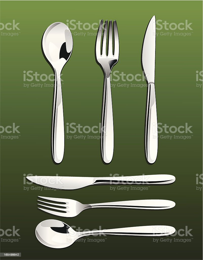 Silverware royalty-free stock vector art