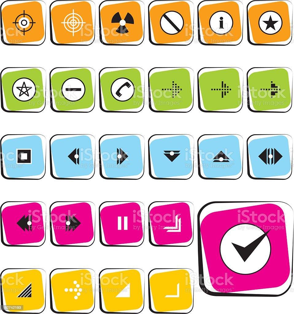 Simple Arrow Icons royalty-free stock vector art