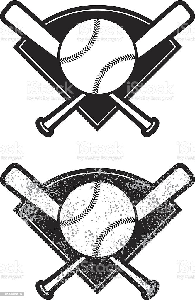 simple baseball vector art illustration