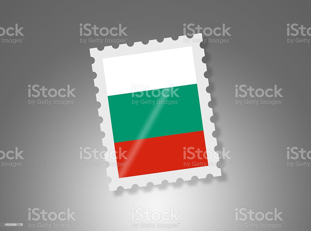 Simple Bulgarian Stamp on Gradient Background vector art illustration