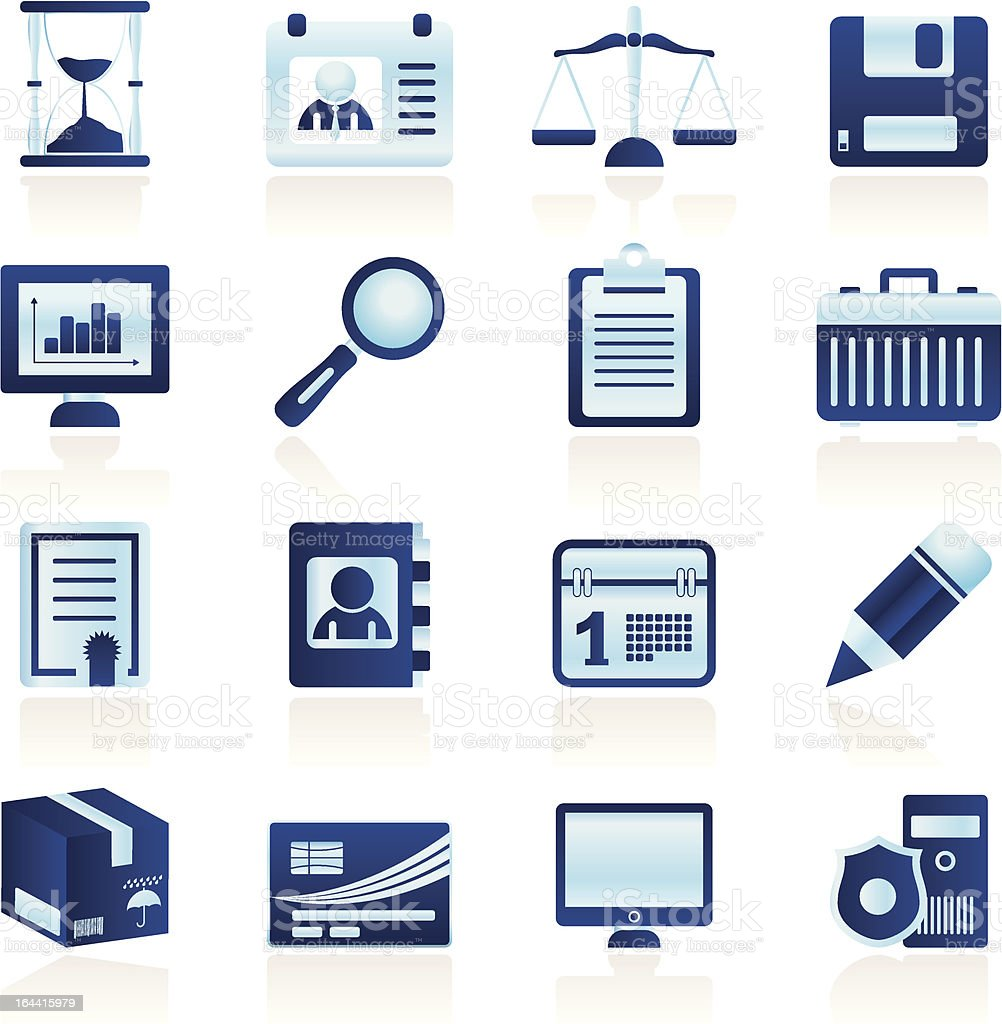 Simple Business and office  Icons royalty-free stock vector art