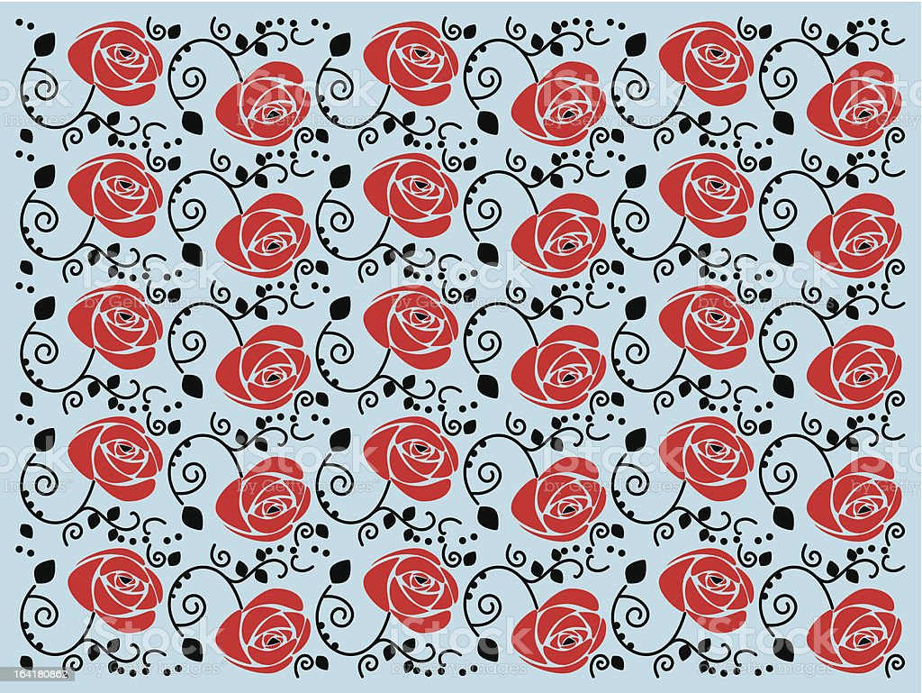 Simple but nice rose pattern. royalty-free stock vector art