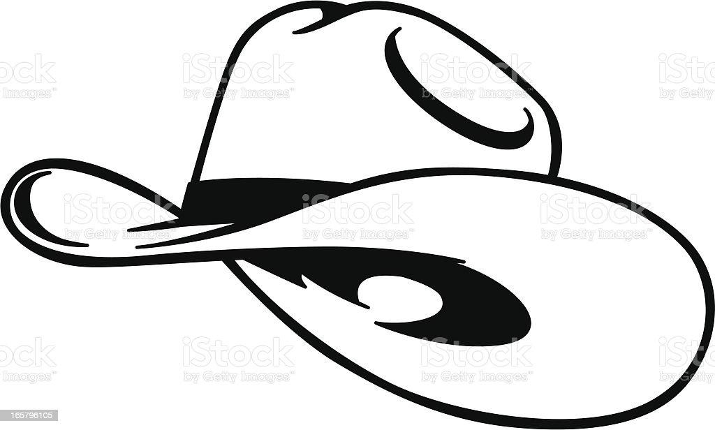 simple cowboy hat royalty-free stock vector art