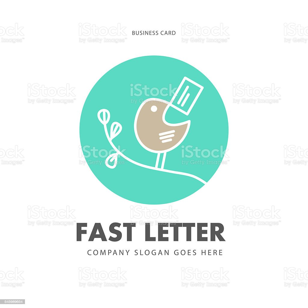 Simple flat business card. vector art illustration