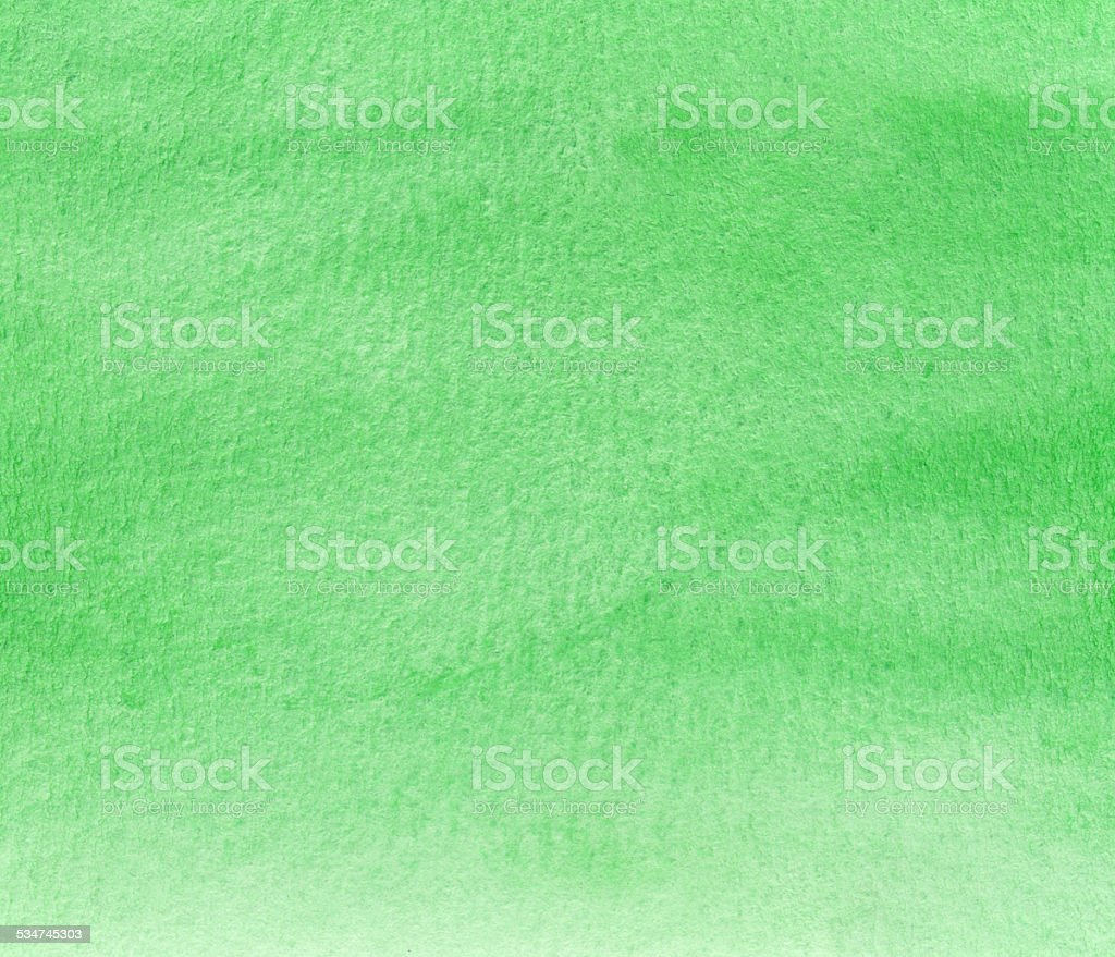 Simple green watercolor background painting vector art illustration