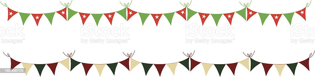 Simple Holiday Bunting royalty-free stock vector art