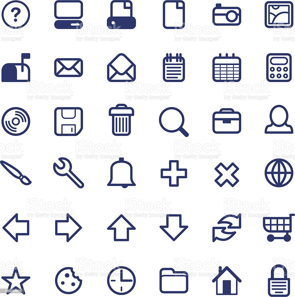 Simple Icons ( vector ) royalty-free stock vector art