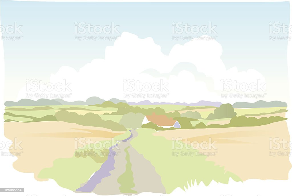 Simple landscape. royalty-free stock vector art