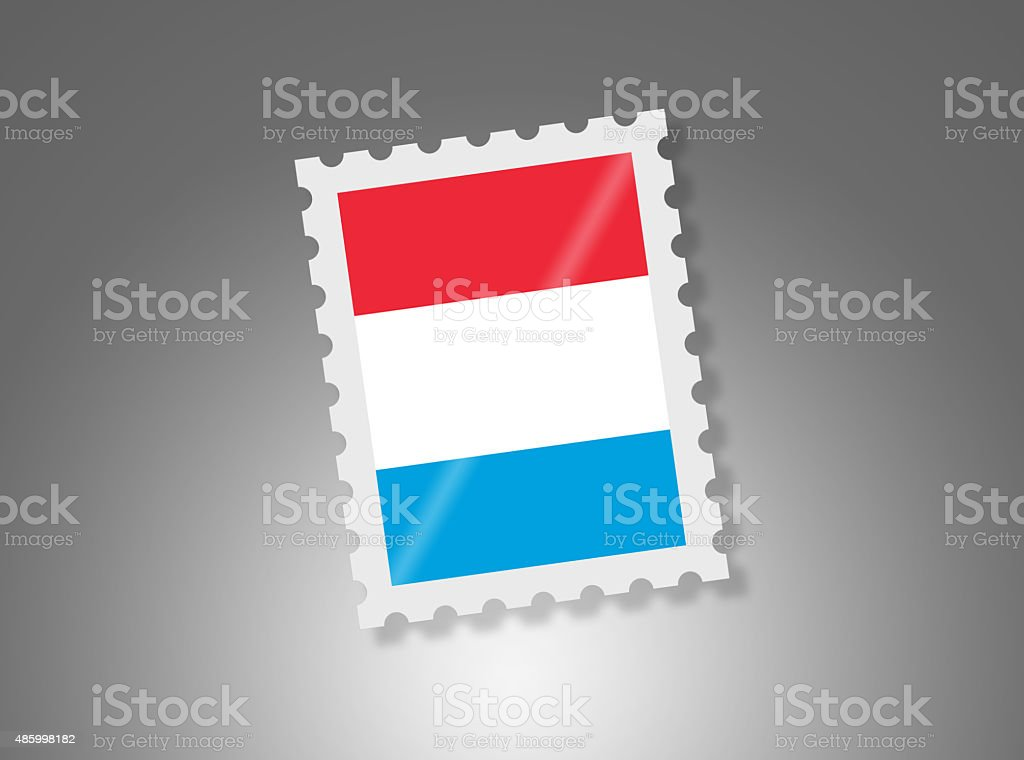 Simple Luxembourg Stamp on Gradient Background vector art illustration