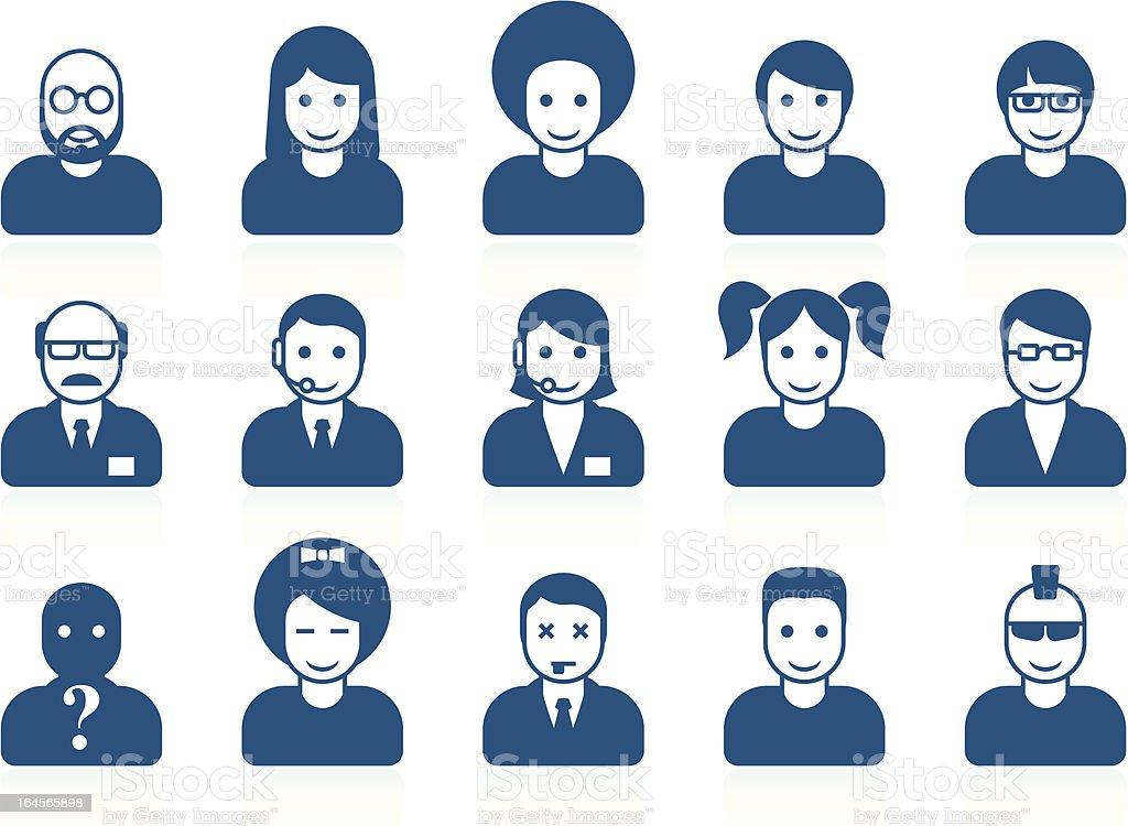 Simple people avatars royalty-free stock vector art