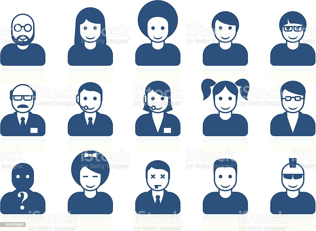 Simple people avatars vector art illustration