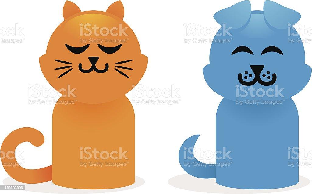 simple pets vector art illustration