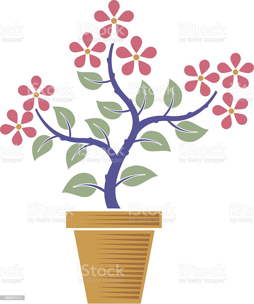 Simple plant vector art illustration