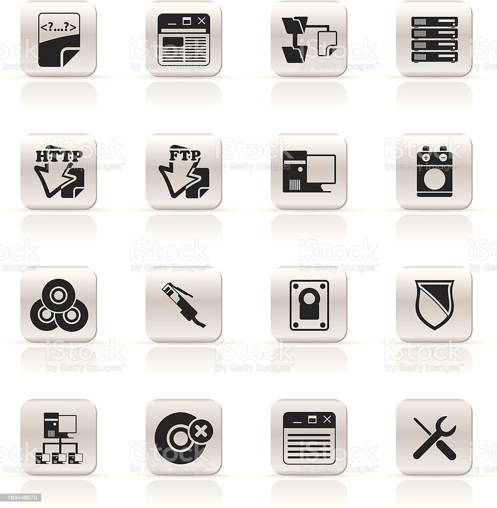 Simple Server Side Computer icons royalty-free stock vector art