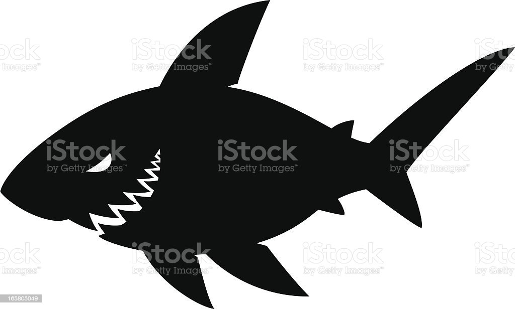 simple shark royalty-free stock vector art