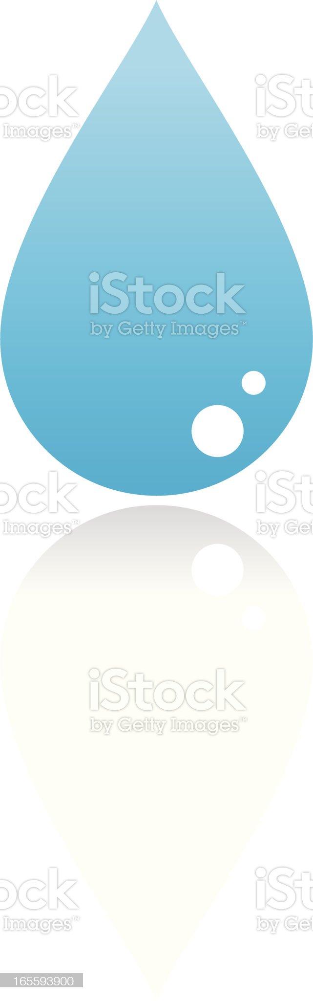Simple water drop royalty-free stock vector art