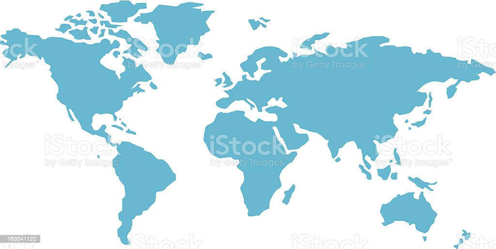 simple world map vector art illustration