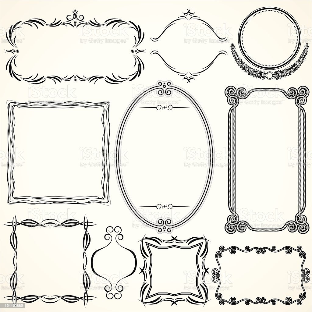 Simply Decorative Frames vector art illustration
