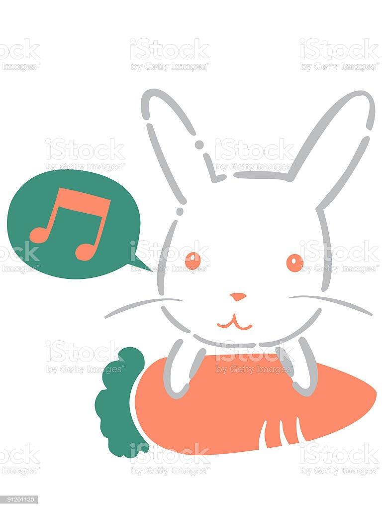Singing Rabbit royalty-free stock vector art
