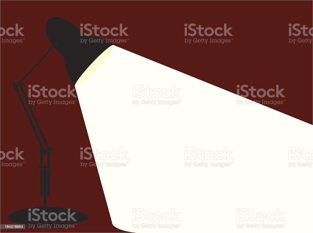 Single Angle Poise Lamp in a graphic style royalty-free stock vector art
