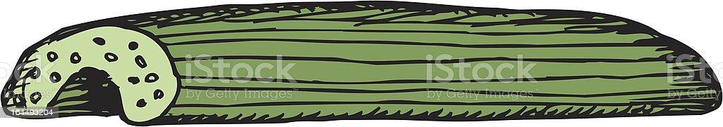 Single Celery Stick royalty-free stock vector art