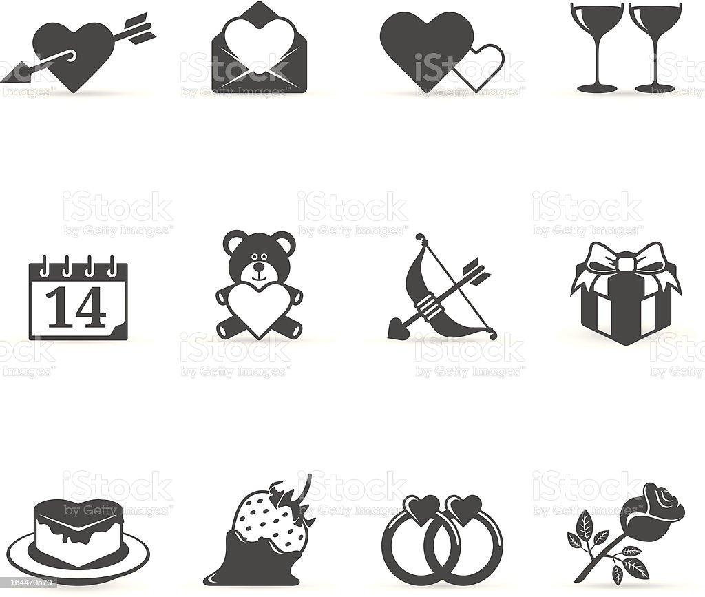 Single Color Icons - Love royalty-free stock vector art