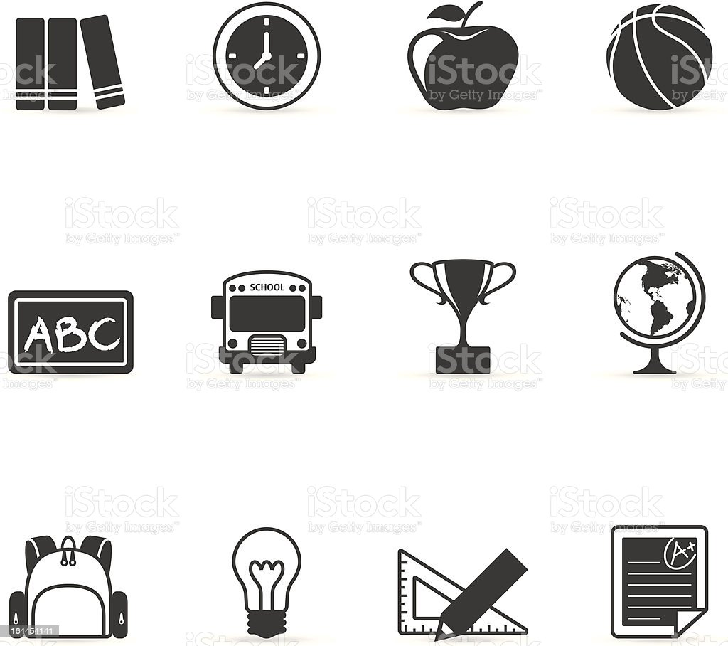 Single Color Icons - School vector art illustration