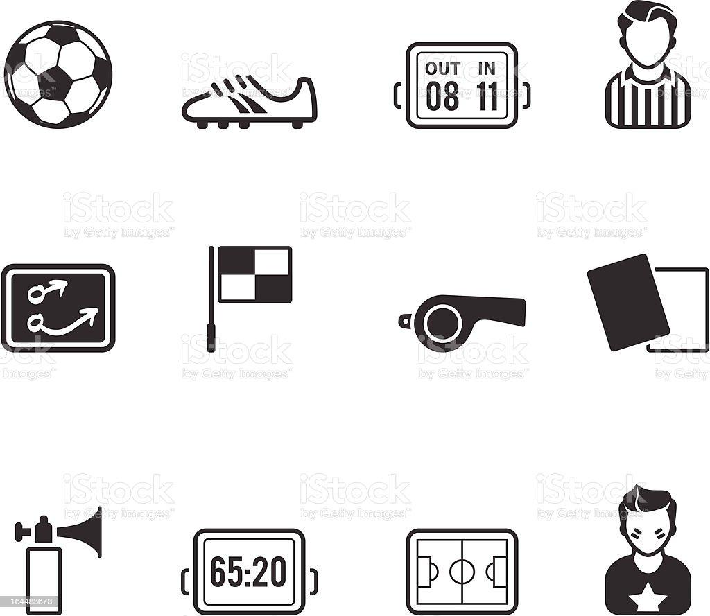 Single Color Icons - Soccer vector art illustration