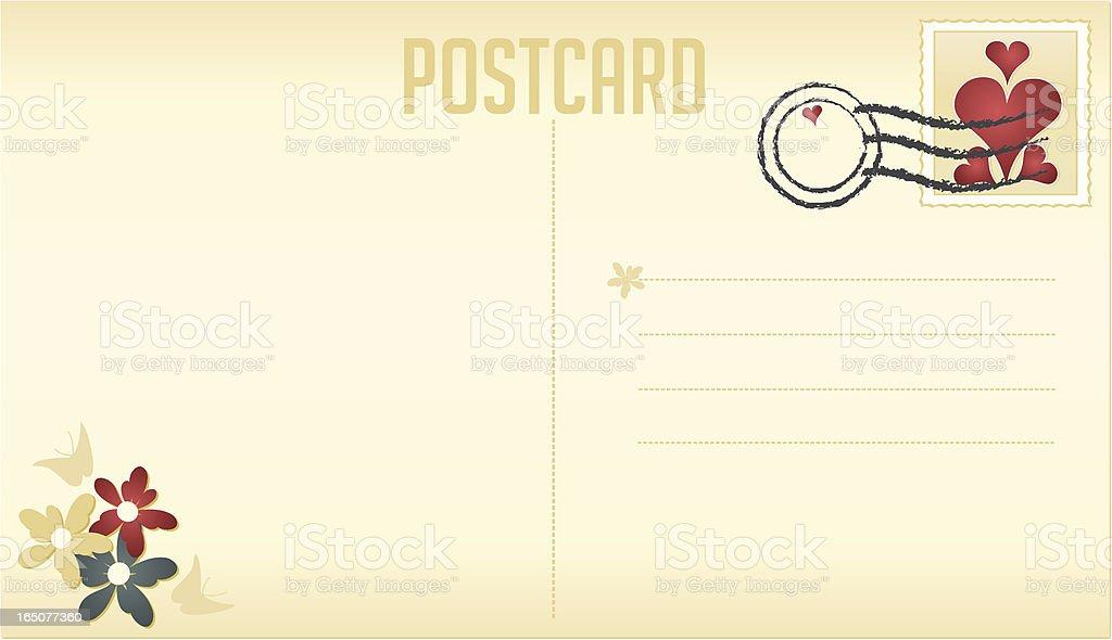 Single postcard royalty-free stock vector art