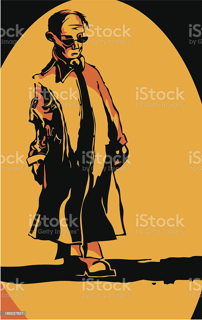 sinister man vector art illustration