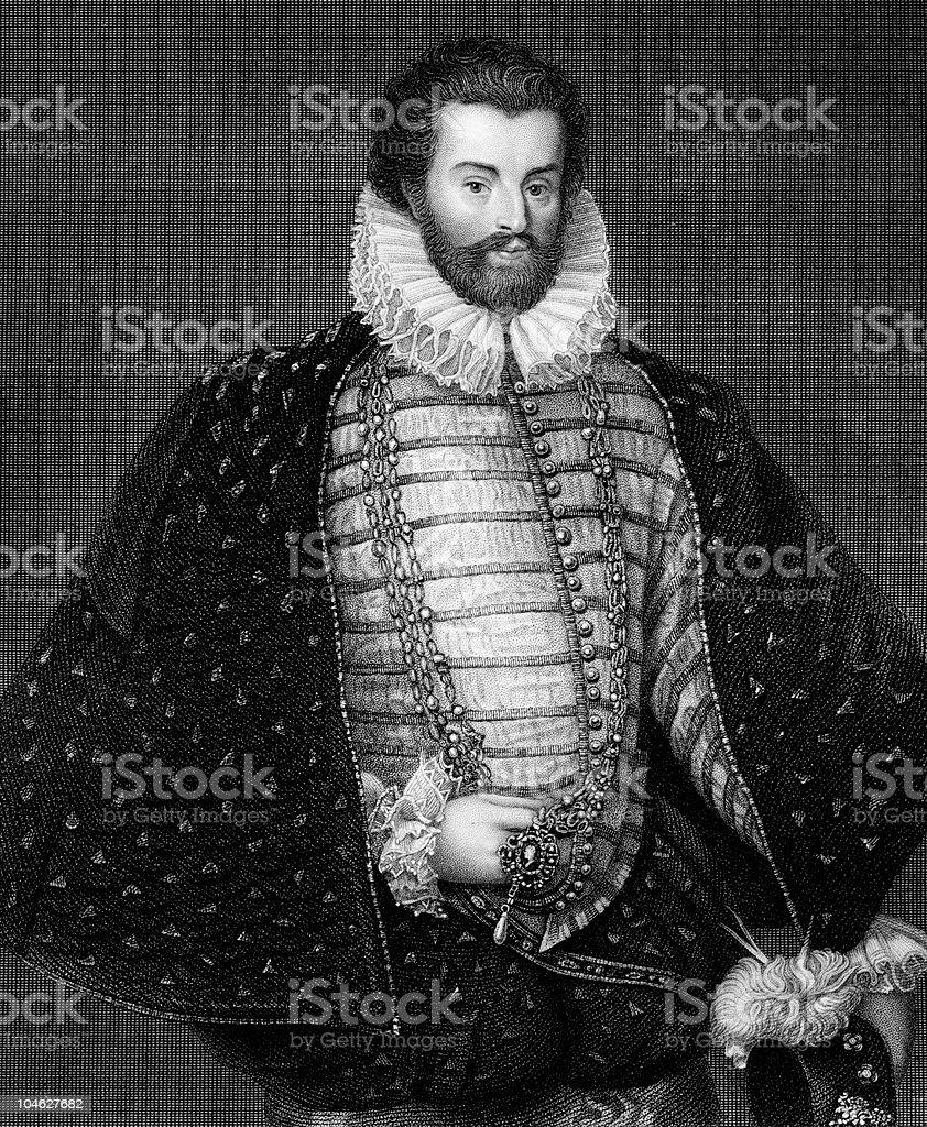 Sir Christopher Hatton royalty-free stock vector art