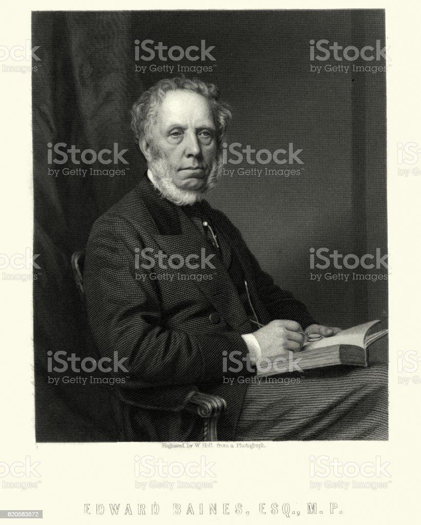 Sir Edward Baines vector art illustration