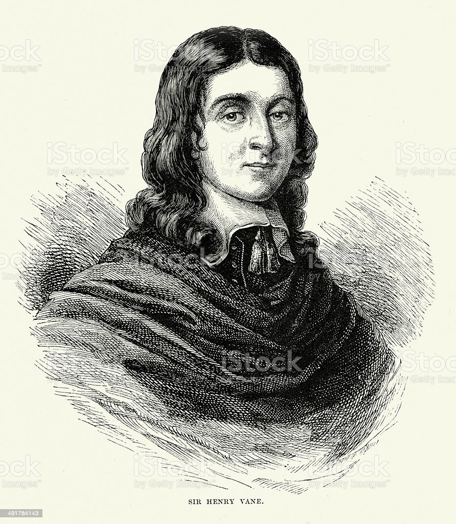 Sir Henry Vane royalty-free stock vector art
