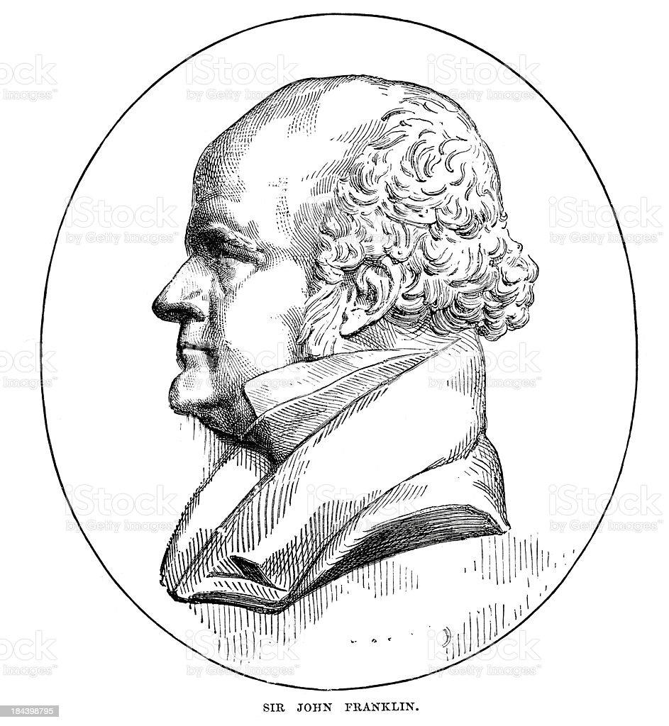 Sir John Franklin vector art illustration