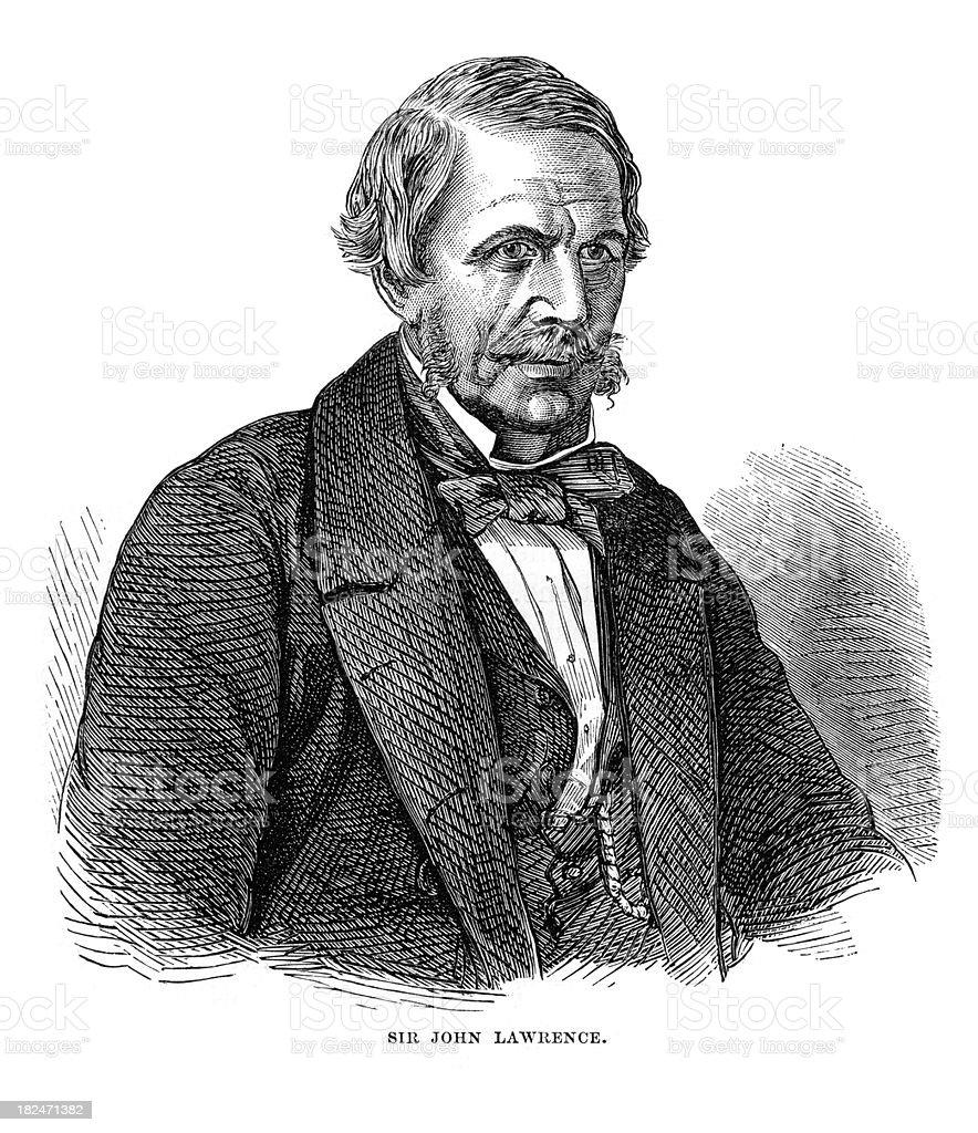Sir John Lawrence vector art illustration