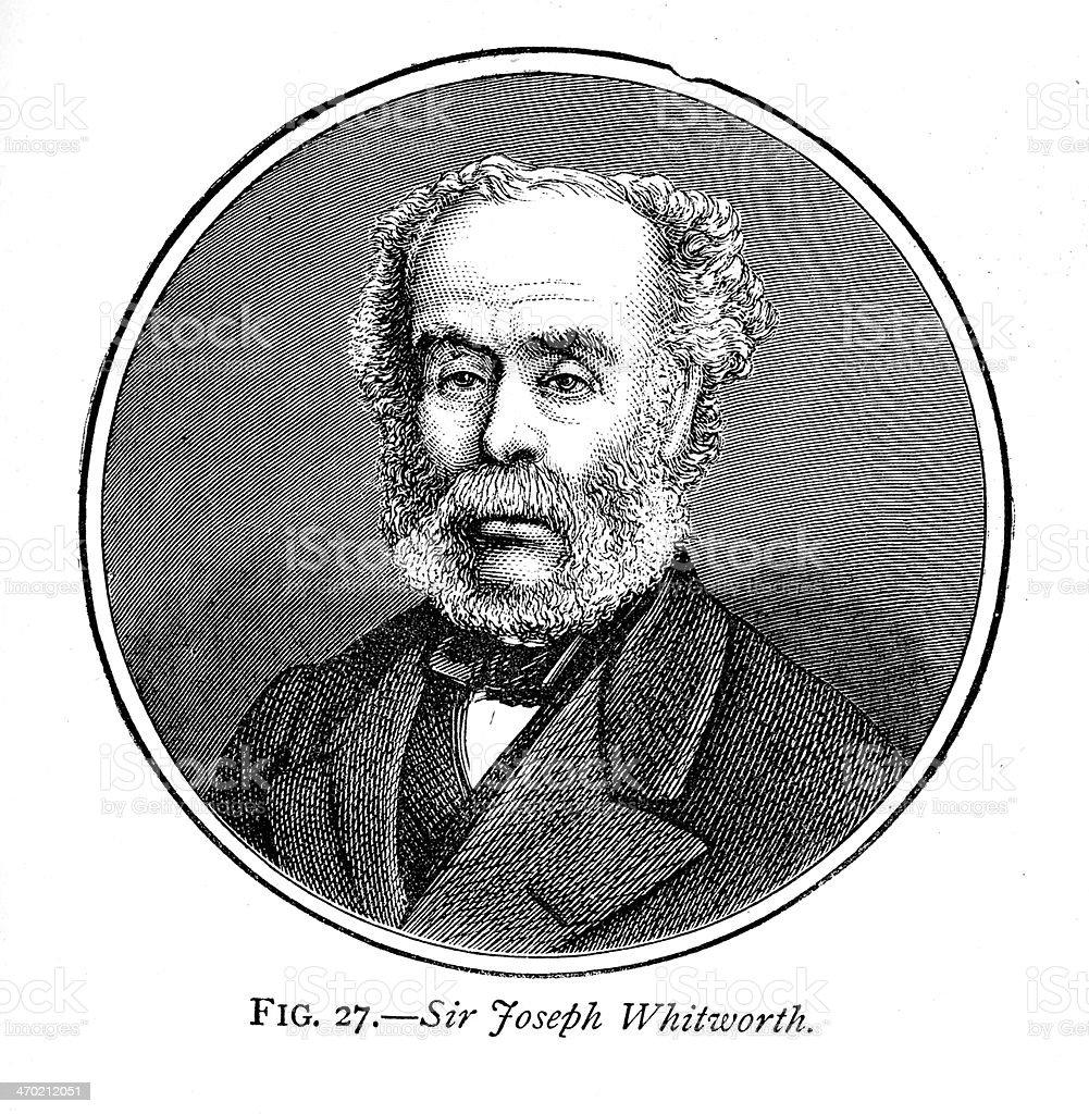 Sir Joseph Whitworth royalty-free stock vector art