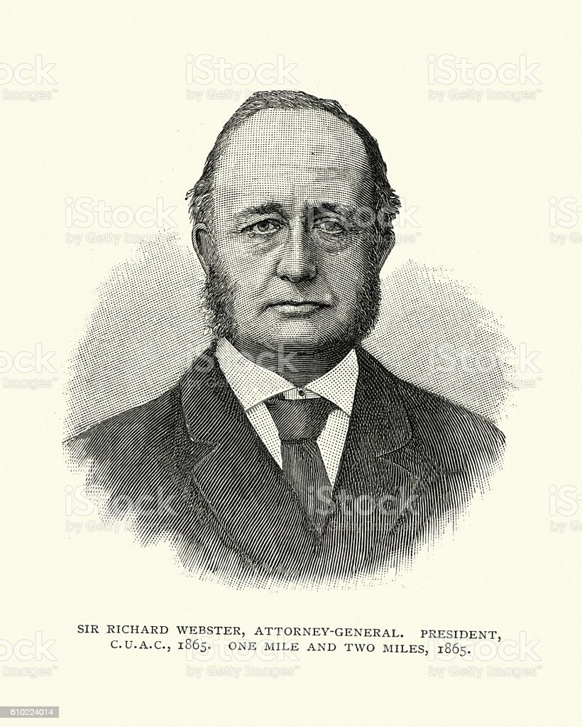 Sir Richard Webster, 1st Viscount Alverstone vector art illustration