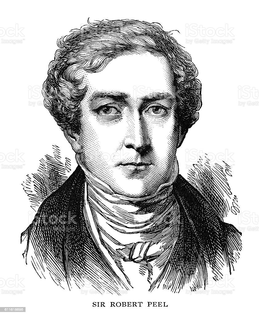 Sir Robert Peel vector art illustration